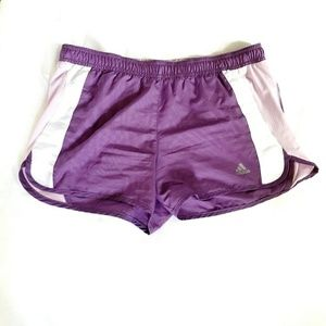 Adidas Running Shorts With Lining Purple Size M